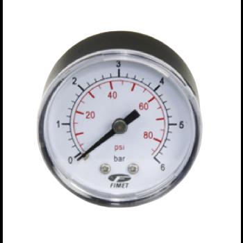 "Manometer 0-6 bar - Achteraansluiting 1/4"""